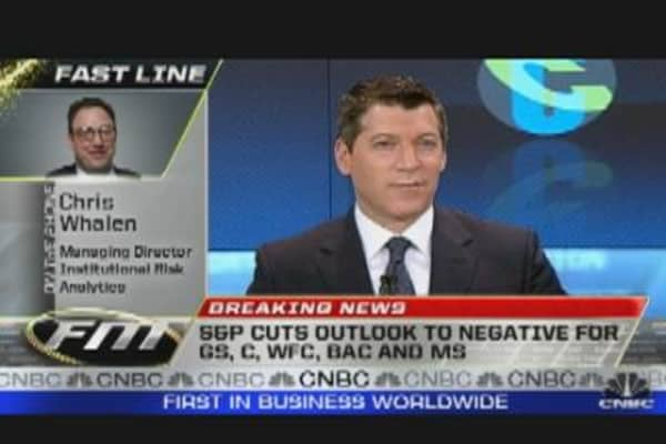 Banks Drop on S&P Downgrade