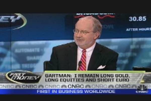 Gartman: Long Gold & Equities, Short Euro