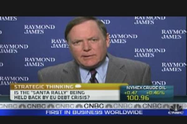 Is the 'Santa Rally' Being Held Back by the EU Debt Crisis?