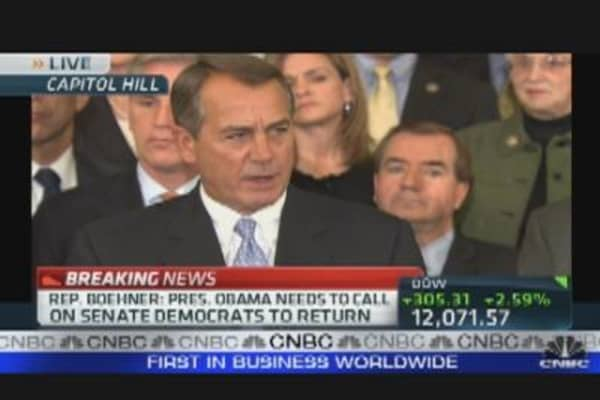 Boehner: We're Proud of the Bill That We Passed