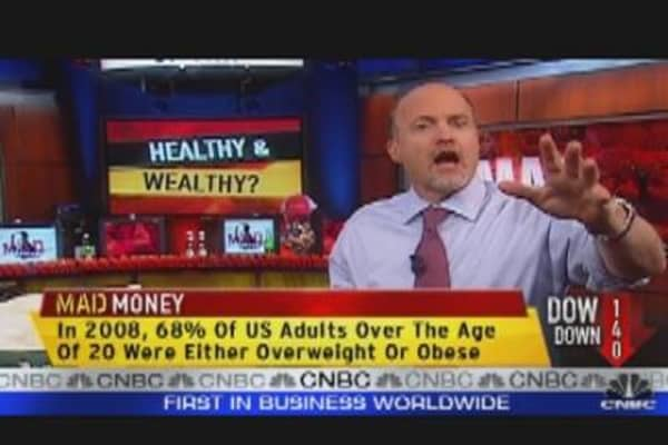 Cramer's 4  Healthy Stock Picks