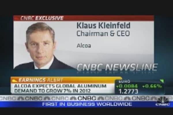 Alcoa CEO on Earnings & Revenue