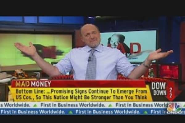 Cramer's Market Message? Money