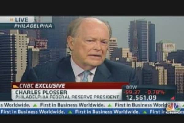 Philly Fed President Plosser on U.S. Recovery