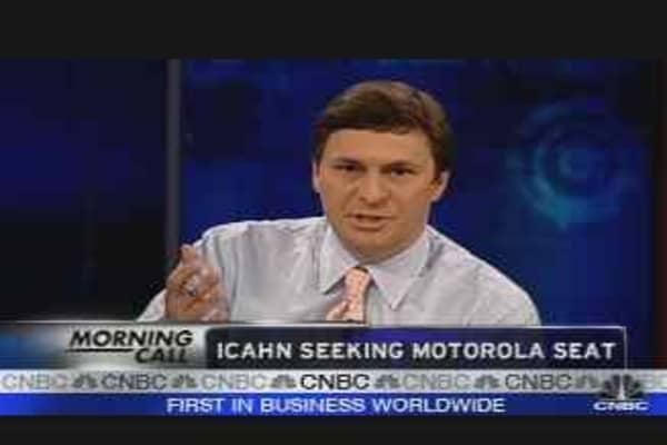 Icahn Seeks Motorola Seat