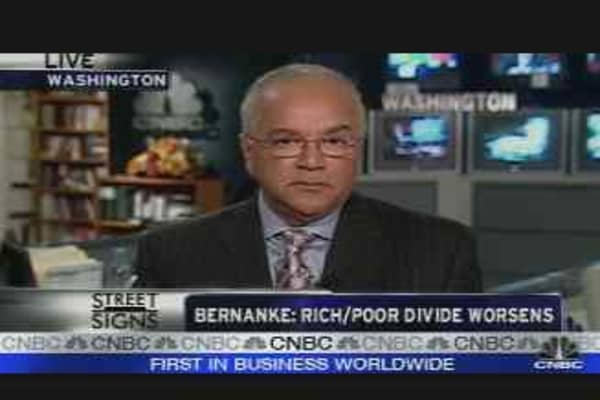 Bernanke on the Rich/Poor Divide