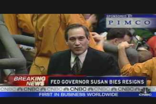 Fed Governor Bies Resigns