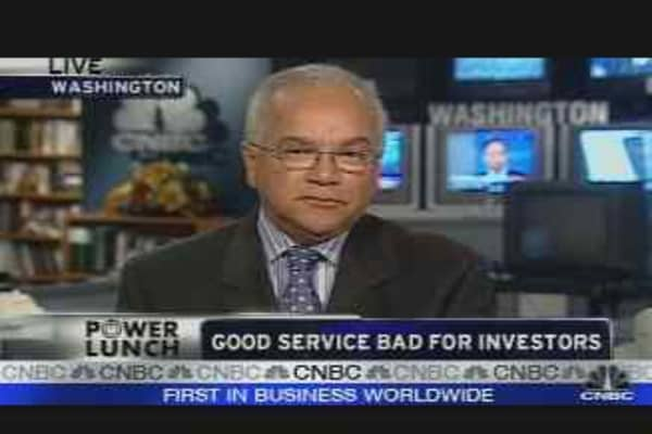 Good Service Bad for Investors