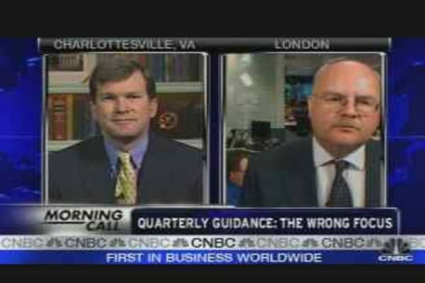 Quarterly Guidance: The Wrong Focus?