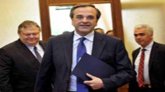 Leader of the New Democracy conservatives, Antonis Samaras