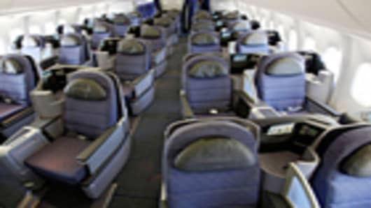 United Airlines First Class Cabin