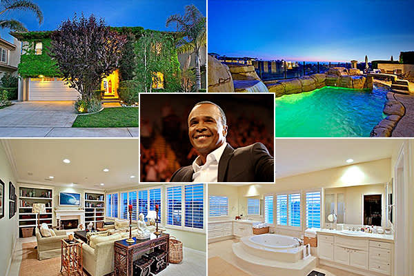 Location: Dana Point, Calif.Price: $2.2 millionBedrooms: 4Bathrooms: 4Square Footage: 4,207Sugar Ray Leonard was a professional boxer who was most active during the 1970s and 1980s. He was inducted into the International Boxing Hall of Fame in 1997.His  in the California city of Dana Point is for sale. The single-family, Mediterranean-style home is located within the Ritz Pointe gated community and features views of Catalina Island and the Monarch Beach Links golf course.
