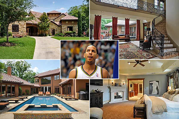 "Location: DallasPrice: $2.1 millionBedrooms: 5Bathrooms: 6Square Footage: 7,464Devin Harris plays basketball with the Utah Jazz. Despite having a workplace in the state that the Osmond Family calls home, he has been living in a Mediterranean villa in Dallas. which recently went on the market for just over $2 million, is in the gated community of Green Park. According to the listing, it includes a gourmet kitchen with Viking appliances and has a ""wall of windows and doors that open to pool area a"