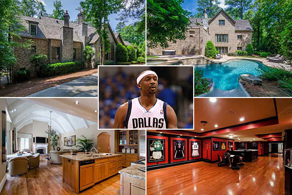 Location: AtlantaPrice: $1.9 millionBedrooms: 7Bathrooms: n/aSquare Footage: 6,325Jason Terry is a shooting guard and sometime point guard for the NBA's Dallas Mavericks. He lives with his wife and four children in a  that's selling for just under $2 million.The listing doesn't disclose the number of bathrooms. However, the property has enough amenities that prospective buyers might not notice that small detail at first. Among them are a pool with a waterfall, a fireplace and a three-car garage,