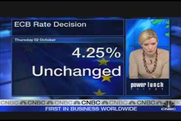 Euro Rates Remain on Hold