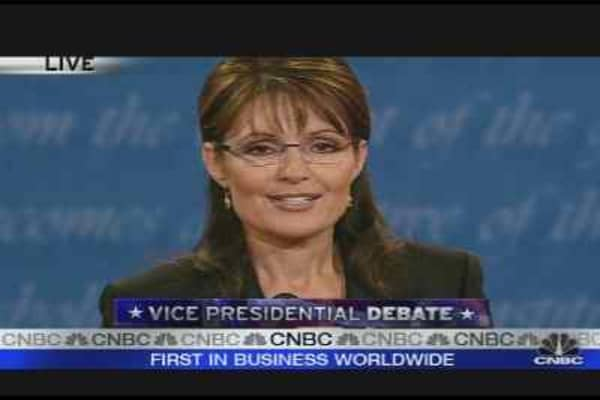 Palin's Closing Statement