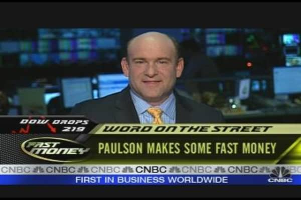 Paulson Makes Some Fast $
