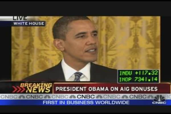 Obama Hits AIG
