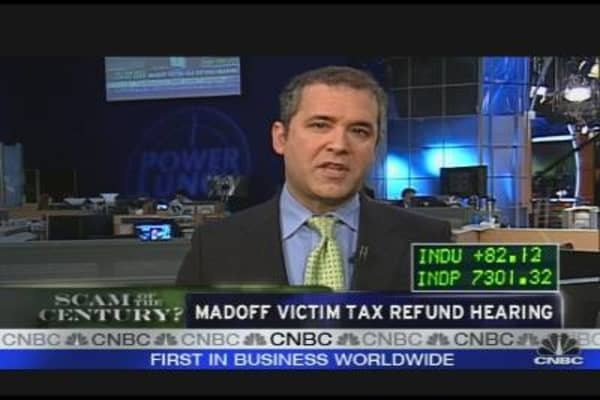 Madoff Victim Tax Refund Hearing