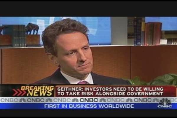 Geithner Talks Toxic Assets