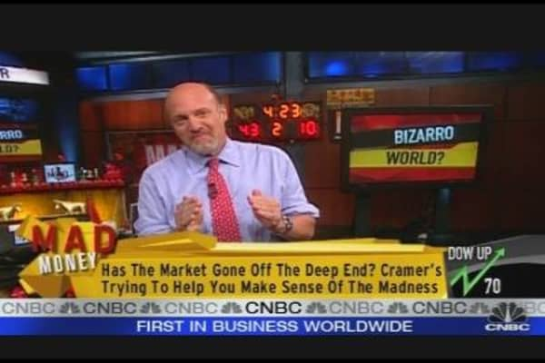 Cramer: Bizarro World?
