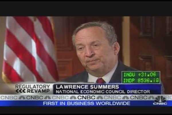 Summers on Regulation Revamp