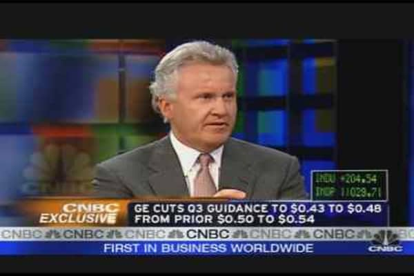 Immelt on GE's Guidance, Strategy