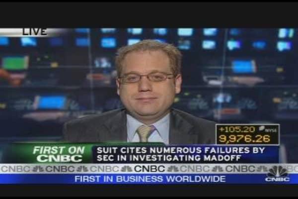 Madoff Victims Sue SEC