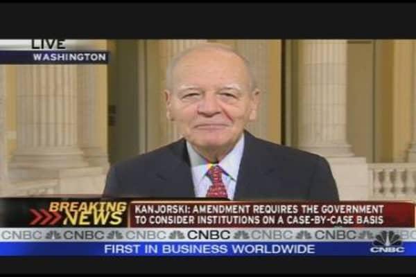 Kanjorski Unveils Financial Reform Amendment