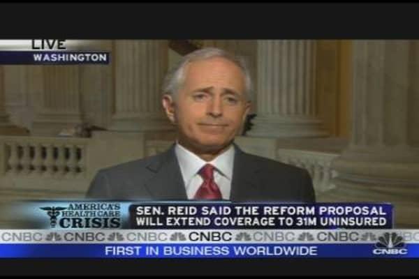 Sen. Corker Reacts to Senate Health Plan