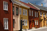 Buildings in R&oslash;ros, Norway