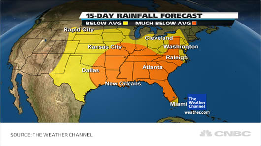15-Day Rainfall Forecast