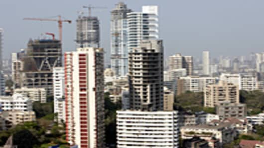 Mumbai, India skyline.
