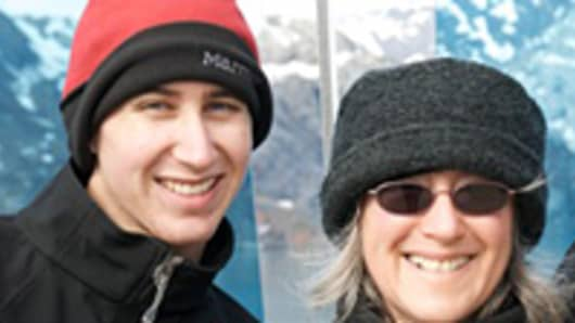 Thiel Fellow Dale Stephens pictured with his mother LisaNalbone during a family vacation to Alaska.