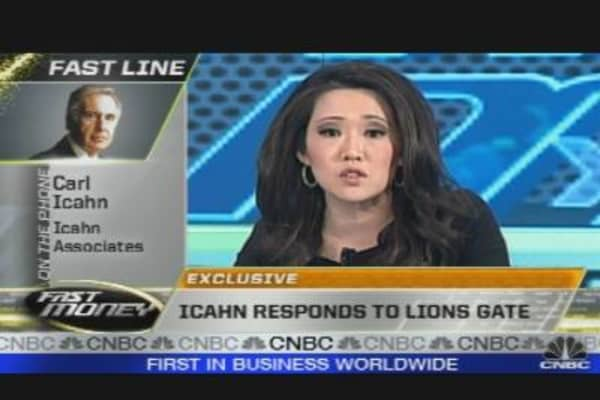 Icahn Responds to Lions Gate