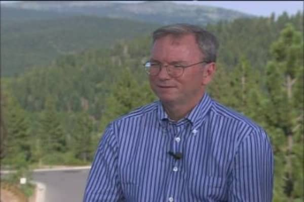 Google CEO Eric Schmidt on Jobs, M&A and Technology