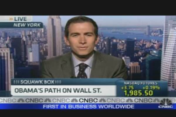 Obama's Path On Wall St.