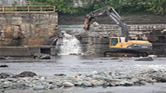Removal of the Great Workers Dam, Penobscot River, Maine
