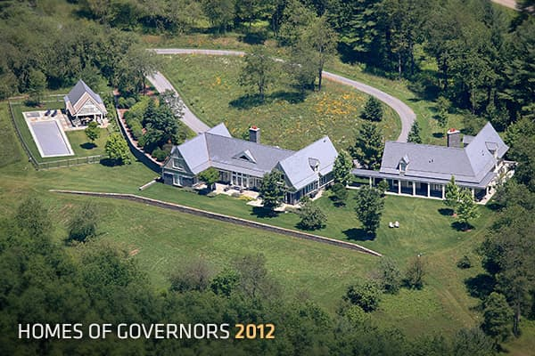 Last year's Homes of Governors  featured the homes of governors from the East Coast (Charles Edison, former governor of New Jersey) to the West (Arnold Schwarzenegger, former governor of California); from the distant past (South Carolina's Edward Rutledge, a signer of the Declaration of Independence), and one home that had housed 17 South Dakota governors. This year's edition includes the homes of contemporary governors as well as one well-known figure from the past who designed his own home. We