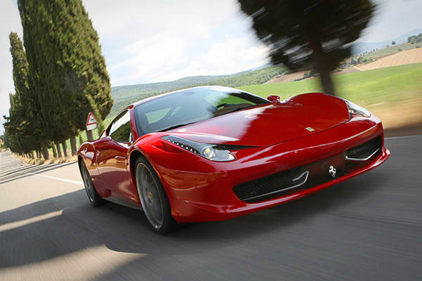 "Top Speed: 201 mphEngine: 562 HP 4.5L V 8MSRP: $229,825Ferrari was founded as a manufacturer of race cars, but branched out into the production of street-legal models two decades later. The 458 harkens back to Ferrari's early history in racing.""The technology packed into this exotic sports car comes directly from Ferrari's F1 racing experience, as reflected in the 458's highly advanced drivetrain and suspension, not to mention the 201 miles per hour top speed,"" Brauer said."