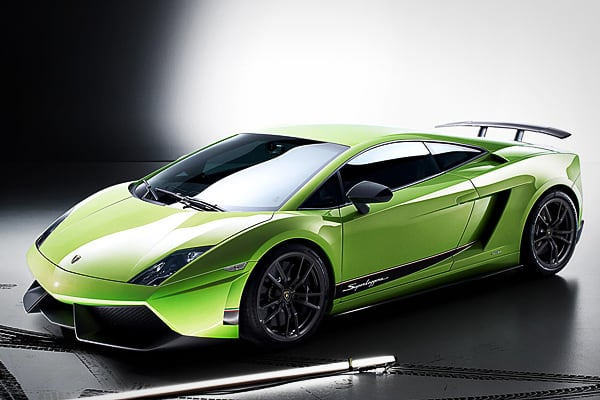 "Top Speed: 202 mphEngine: 562 HP 5.2L V 10MSRP: $237,600Italian luxury car manufacturer Lamborghini always brings the goods when it comes to power, speed and glamor. The 2013 Gallardo LP 570-4 Superleggera is no exception.""Lamborghini knows a modern-day exotic, particularly one from Italy, has to achieve 200 miles per hour if it wants to be taken seriously by wealthy performance enthusiasts,"" Brauer said. ""The V10 in the Gallardo LP 570-4 Superleggera delivers, with 562 horsepower capable of pus"