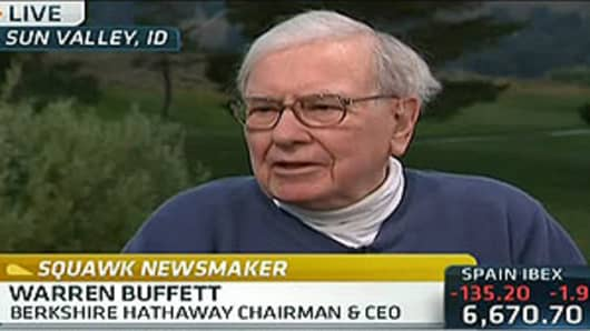 Warren Buffett is interviewed on CNBC's Squawk Box, July 12, 2012