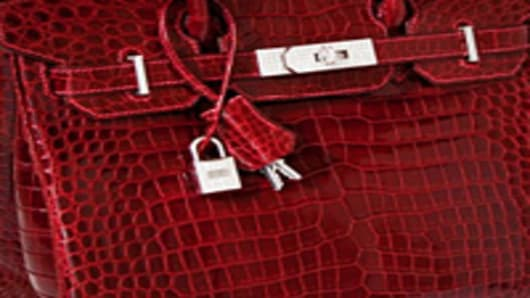 Hermes Red Alligator Birkin Bag