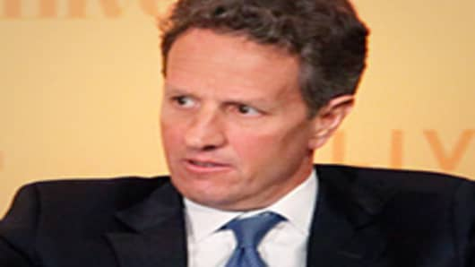 Tim Geithner speaking at Delivering Alpha