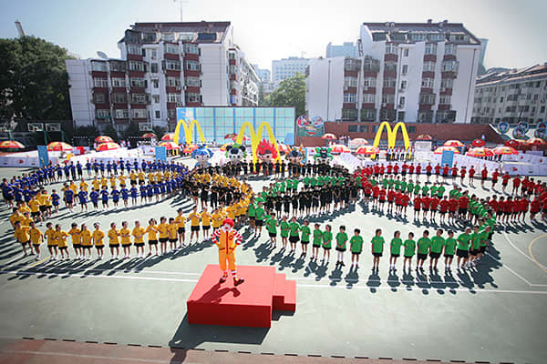 McDonalds has been an Olympic Sponsor since 1976 and their current agreement extends their sponsorship through 2020. Even before they were a sponsor McDonalds was supporting Olympic athletes by flying food to the athletes at the 1968 games in Grenoble, France. This year four temporary McDonalds have been built throughout Olympic Park staffed by over 2000 people ready to serve the athletes, coaches, spectators, for all 19 days of the games. Also, if any other food venue wants to serve fries they