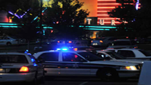 The Century 16 movie theatre is seen where a gunmen attacked movie goers during an early morning screening of the new Batman movie, 'The Dark Knight Rises' July 20, 2012 in Aurora, Colorado.