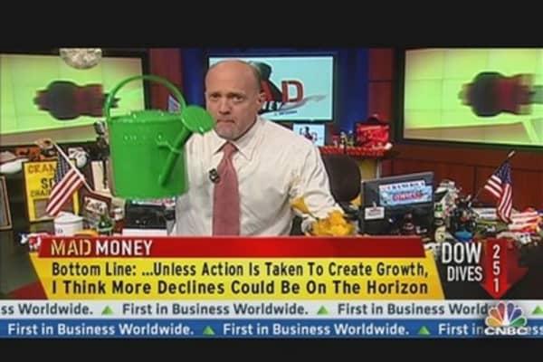 Cramer's Take on Bank Downgrades