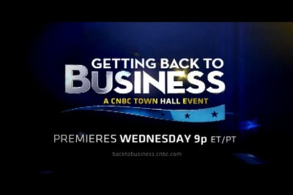 Getting Back to Business: A CNBC Town Hall Event
