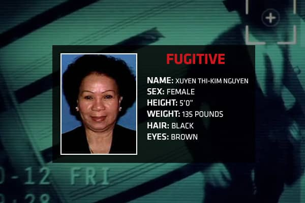 Charges: Failure to appear Xuyen Thi-Kim Nguyen, along with six other individuals, was indicted in 2005 for involvement in a scheme to defraud a mortgage company of more than $5 million. In the case, Nguyen was convicted of one count of conspiracy, two counts of mail fraud and seven counts of wire fraud. After her conviction, Nguyen was placed on home monitoring to await sentencing, but allegedly fled from her home in Plano, Texas in November 2005. In February 2006, an arrest warrant was issued