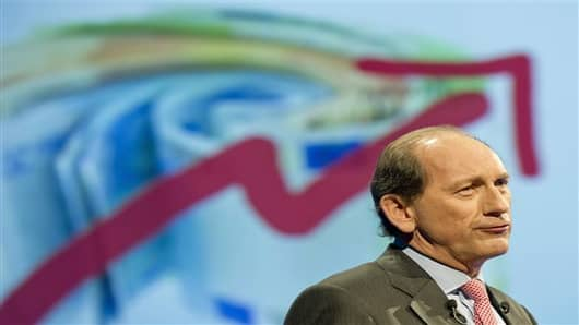 Nestle's CEO Paul Bulcke speaks during the general meeting of one of the world's leading food and beverage company, Nestle Group, in Lausanne, Switzerland.